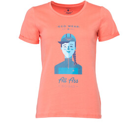 Triple2 Laag Face T-Shirt Dame living coral